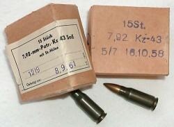 Промежуточный патрон 7,92x33 м.Е. образца 1943 г.