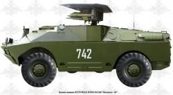 Боевые машины 9П122 с ПТРК 9К14М «Малютка-М»