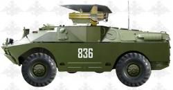 Боевые машины 9П124 с ПТРК 2К8М «Фаланга-М» и 9П137 с ПТРК 2К8П «Фаланга-П»
