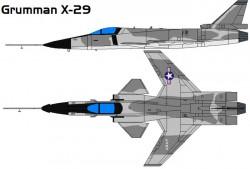 Экспериментальный самолет Grumman X-29A