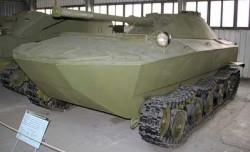 Опытный плавающий танк К-90
