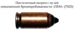 Патрон с пулей повышенной бронепробиваемости «ПБМ» (7Н25)