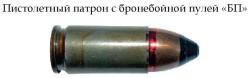 Пистолетный патрон с бронебойной пулей «БП»