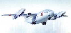 Проект военно-транспортного самолёта СВВП Бе-32 1968 года