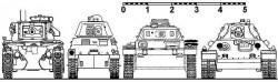 «Средние» танки в шеренге «по росту»
