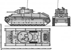 Танк Т-28Н и контур корпуса Т-28Ф