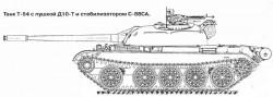 Опытный танк Т-54 с пушкой Д10-Т и стабилизатором С-88СА