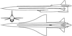 Опытный БПЛА Ту-139 «Ястреб-2»