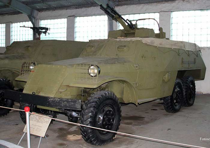 Зенитная самоходная установка БТР-152А с ЗТПУ-2