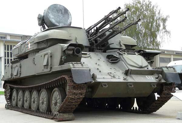 Зенитная самоходная установка 2А6 ЗСУ-23-4 «Шилка»