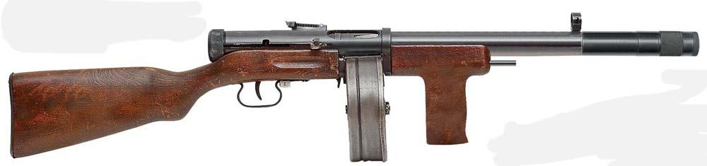 Опытный бесшумный пистолет-пулемёт ППД «Брамит»