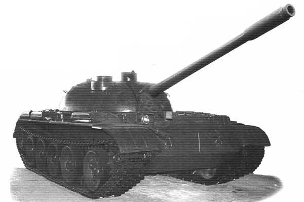 Опытный танк Т-55 с танковой телевизионной аппаратурой