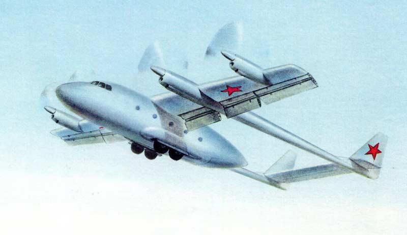 Проект военно-транспортного самолёта УВП Бе-32 1965 года