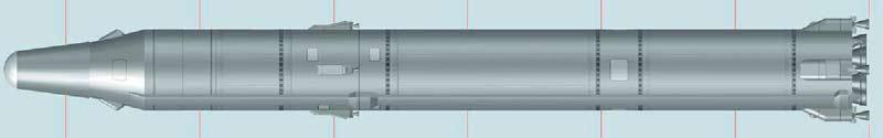 Межконтинентальная баллистическая ракета 8К67 Р-36