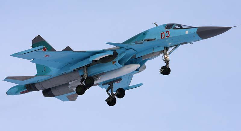 Российский фронтовой бомбардировщик - Су-34 (Sukhoi Su-34) .