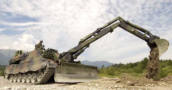 Бронированная инженерная машина Pionierpanzer 3 Kodiak