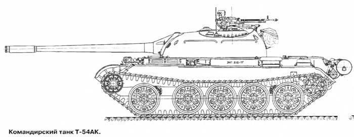 Командирский танк Т-54АК