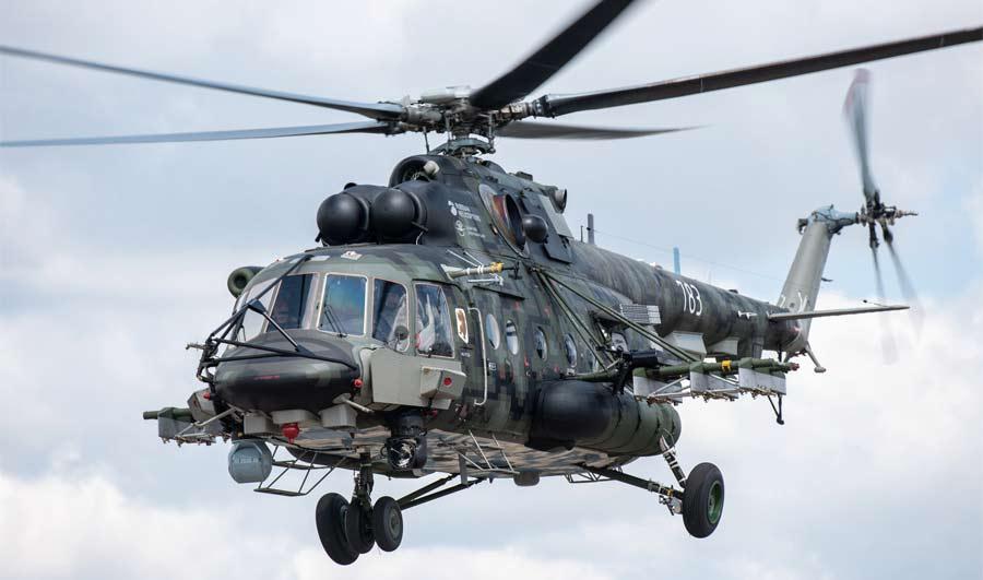 Военно-транспортный вертолет Ми-8АМТШ-ВН